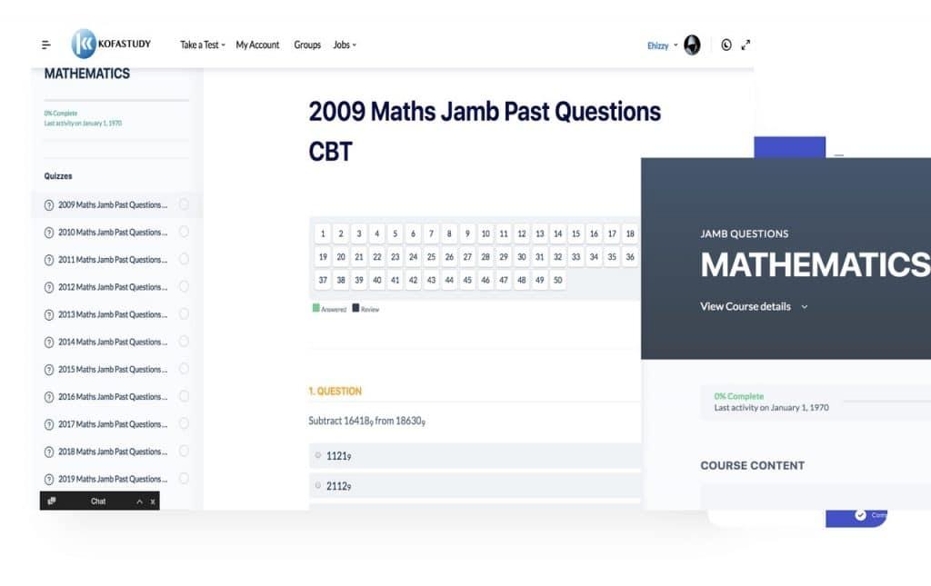 Maths 2009 jamb past question