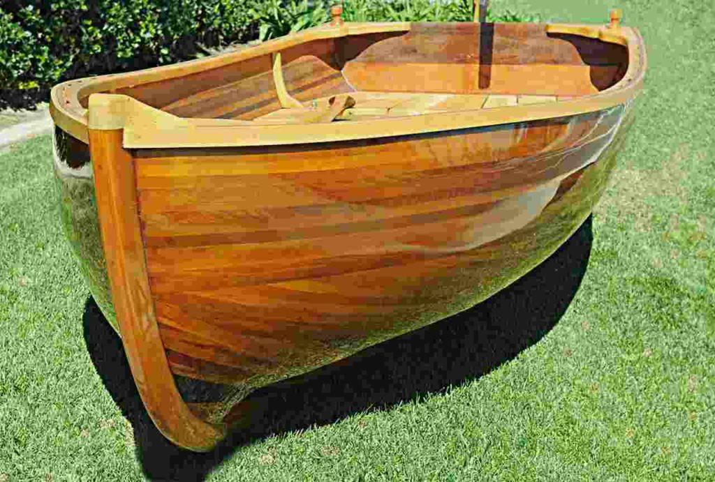 Boat built with cedar wood