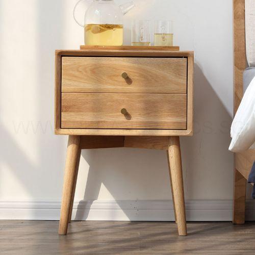 American Oak Wood Side Table