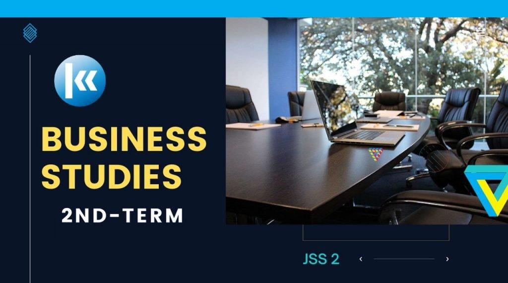 Business Studies JSS1 2nd term Kofa 2