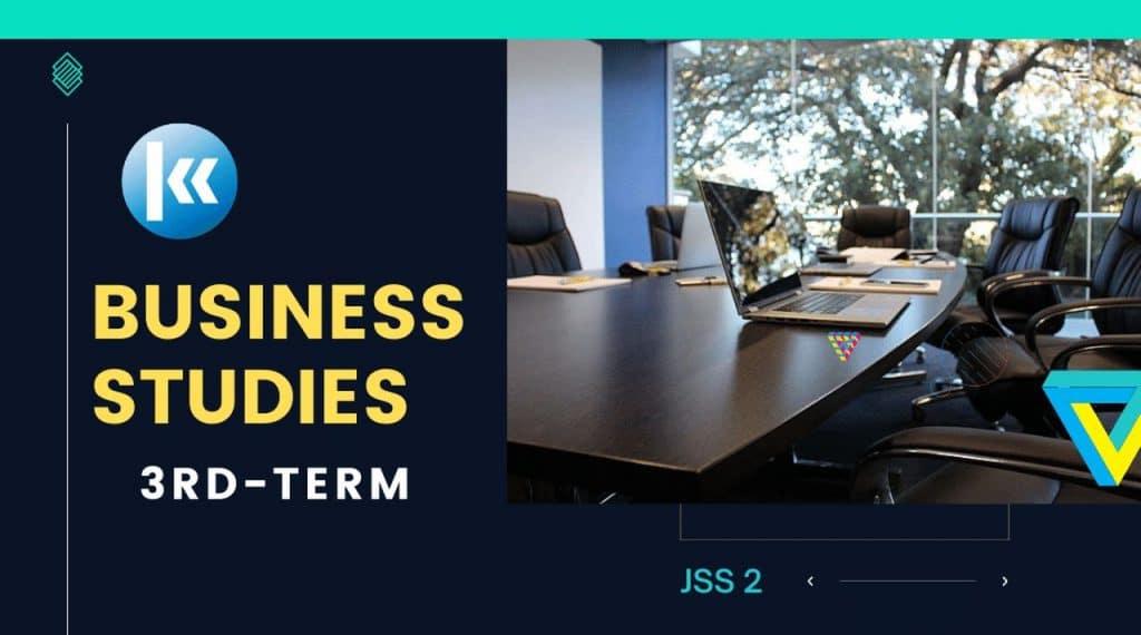 JSS2 Business Studies 3rd term Kofa Study
