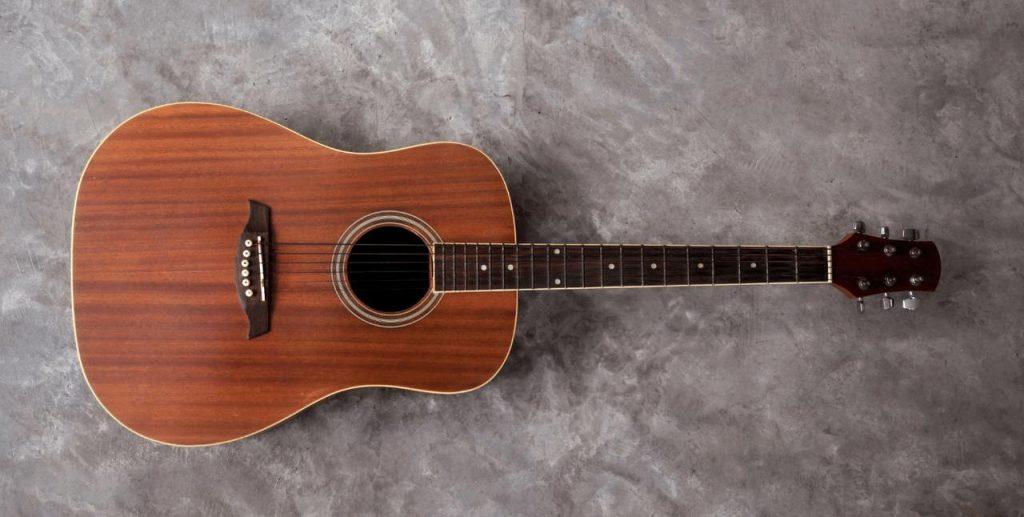 Guitar made of wood