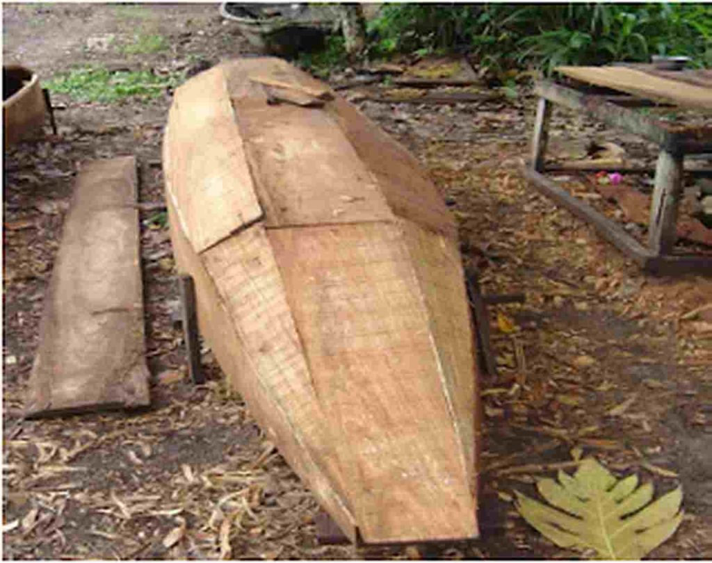 Planked Canoe made from Afara Wood