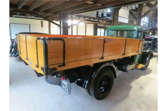 Lorry with wooden body