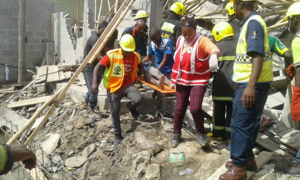 Rescue Operation - Collapsed Building Lagos