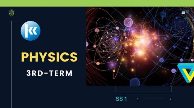 SS1 Physics 3rd term KofaStudy
