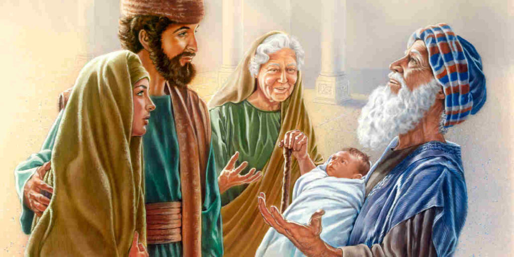 Joseph and Mary Bring Baby Jesus to the Temple