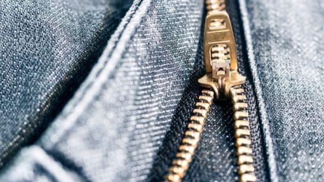 brass zipper