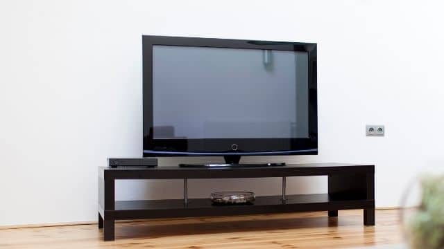 Tv Screen is made of glass.