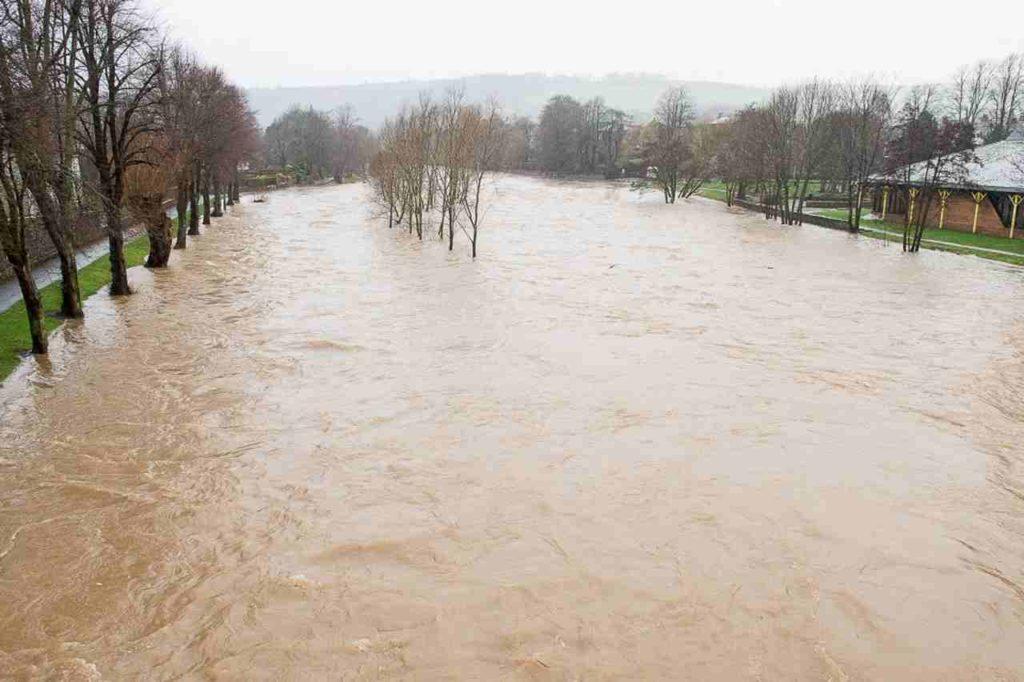 urban area flooding