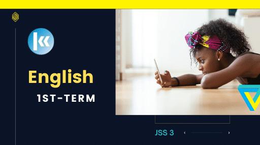 JSS3 English 1st term KofaStudy