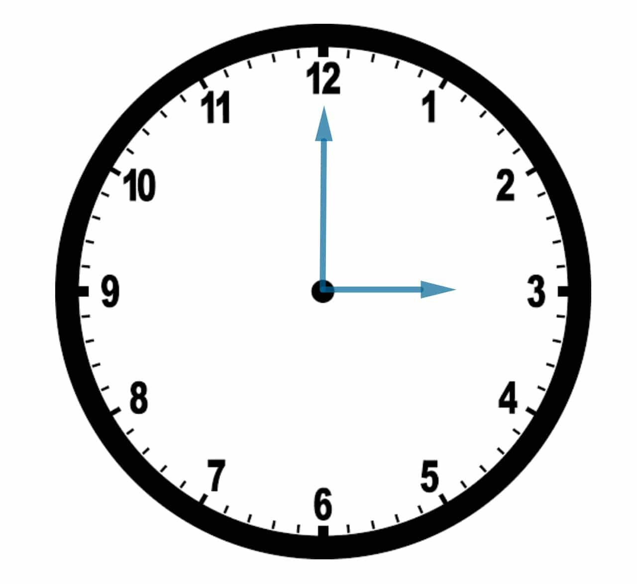 3 o clock