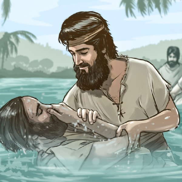 He went into all the country around the Jordan, preaching a baptism of repentance for the forgiveness of sins.